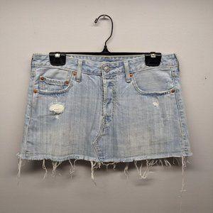 LEVI'S Jean Mini Skirt Denim Size Large